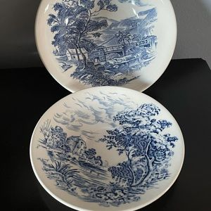 Vintage Wedgwood Countryside Bowl and Saucer